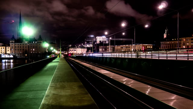 night trains time lapse - promenade stock videos & royalty-free footage