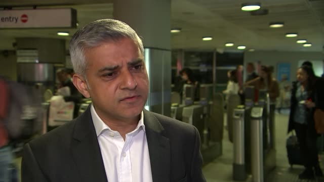 night tube set to open in august england london int sadiq khan mp interview sot learn lessons from first night tubes opening by not starting all... - itv london lunchtime news点の映像素材/bロール