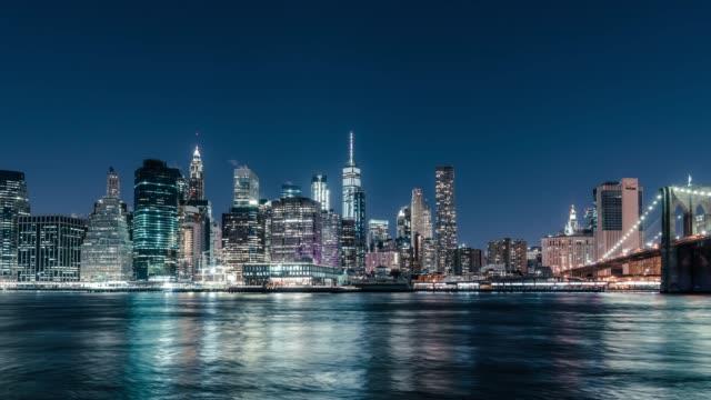 T/L ZI Night View of Downtown Manhattan / NYC