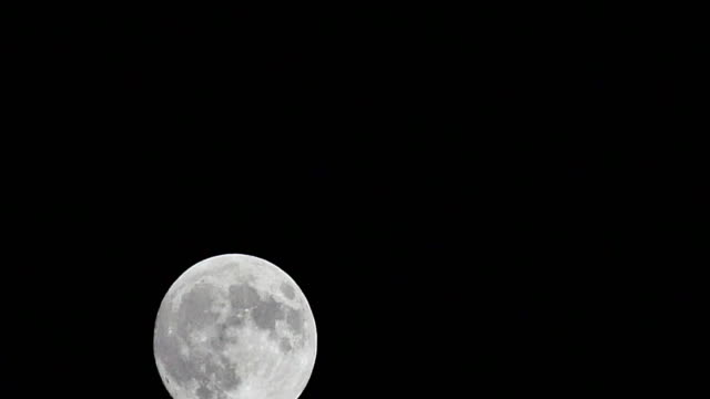 Night View Of Rising Super Moon Stock Footage Video Getty Images