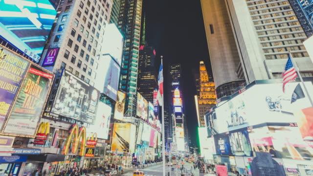 T/L vue de nuit de Times Square, Manhattan, New York
