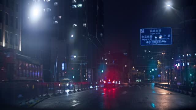 vídeos y material grabado en eventos de stock de night view skyline of shanghai downtown - embarcación de pasajeros