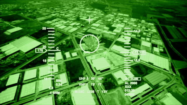 stockvideo's en b-roll-footage met night vision air strike - leger thema