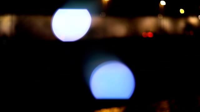 vídeos de stock, filmes e b-roll de noite com modo desfocado de luz - elemento de desenho