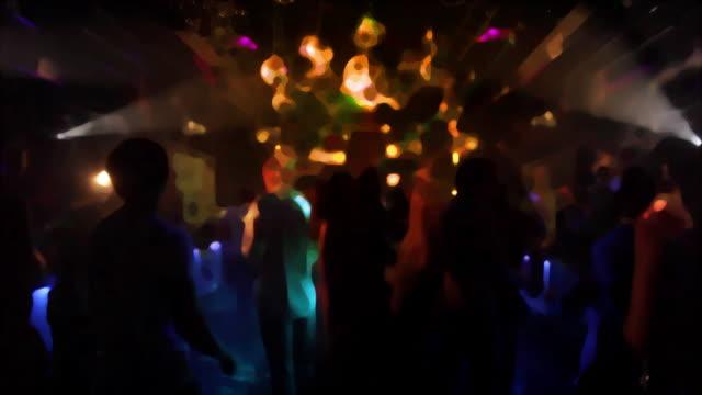 nachtclub dancers - psychedelische musik stock-videos und b-roll-filmmaterial