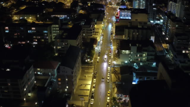 Nightfall on the city streets