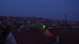 Nightfall Over a Town