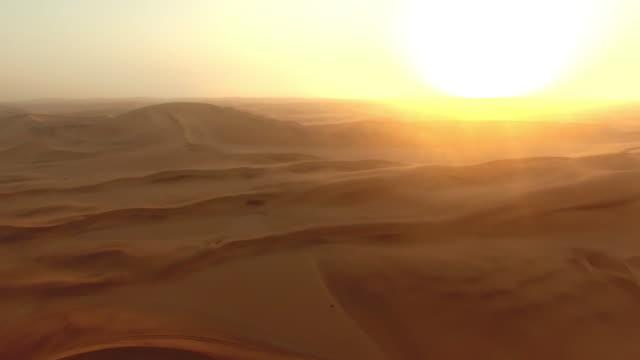 Nightfall over de Namibische woestijn
