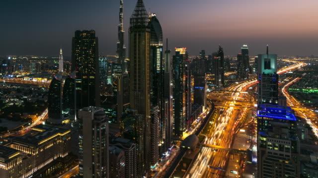 Nightfall, Sheikh Zayed Road, Dubai