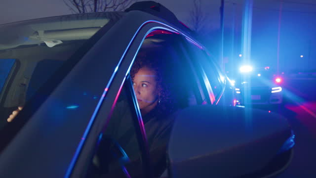 nightime police traffic stop - pursuit concept stock videos & royalty-free footage