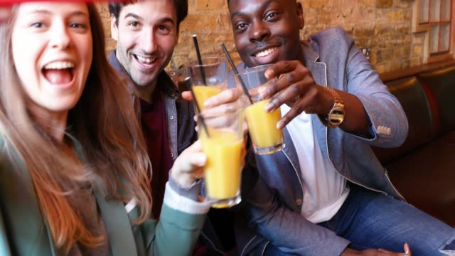 nightlife in a london pub, friends spending some great time together - fruit juice stock videos & royalty-free footage