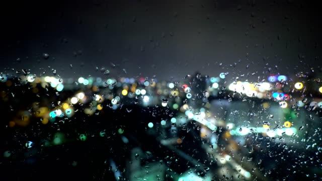 nightly rainy city - 4k resolution - rain stock videos & royalty-free footage