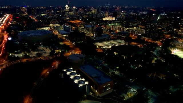 Nightscape Modern Industrial Progressive grows the capital city of Austin , Texas, USA