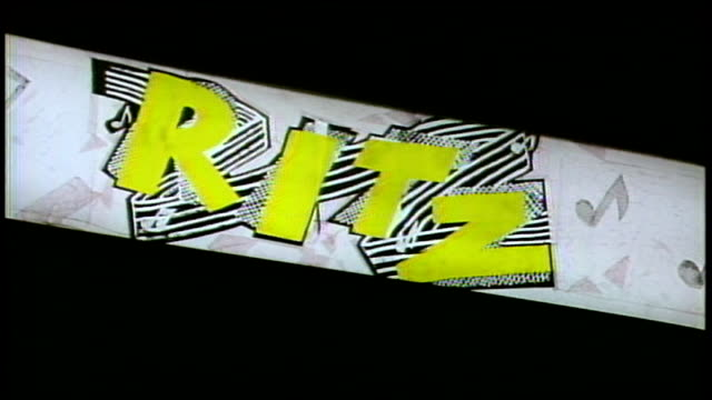 Nightshot of Ritz Nightclub and Sign in NYC