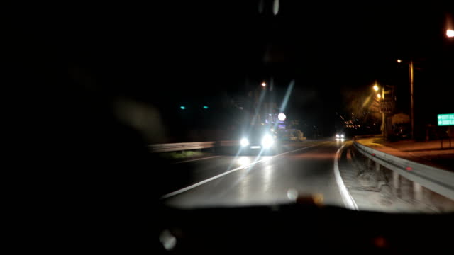 nighttime driving - convertible stock videos & royalty-free footage