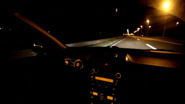 nighttime driving.car interior - car interior stock videos & royalty-free footage