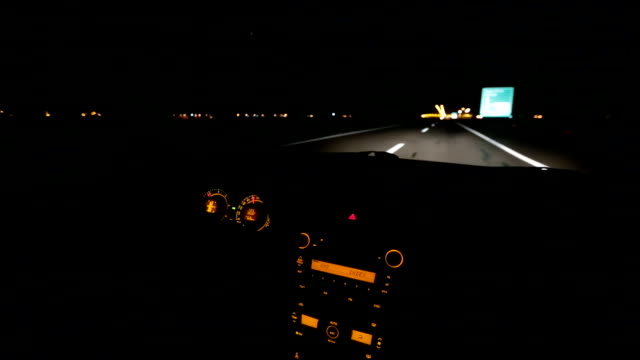 nighttime driving.car interior - escaping stock videos & royalty-free footage