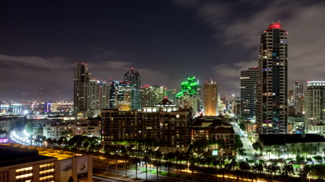 nighttime san deigo time laspe - san diego stock videos & royalty-free footage