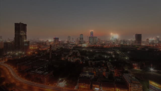 stockvideo's en b-roll-footage met nighttoday time lapse of mumbai india - d day
