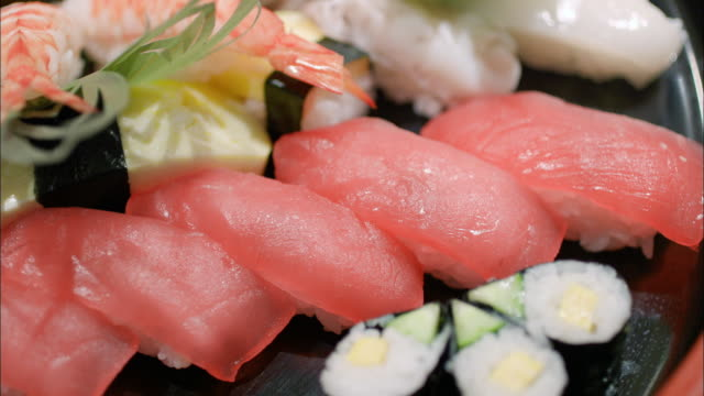 nigiri bento lunchbox - nigiri stock videos and b-roll footage