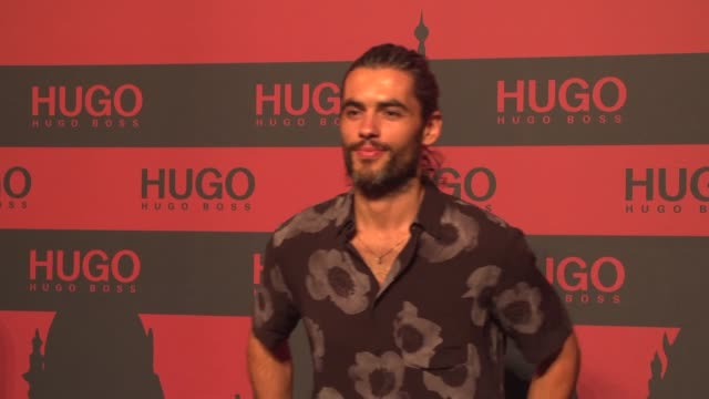 nik xhelilaj at the hugo launch party with live performance by liam payne during the berlin fashion week spring/summer 2020 at wriezener karree on... - liam payne stock videos and b-roll footage
