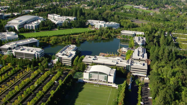 MS AERIAL Nike headquarters / Oregon, United States