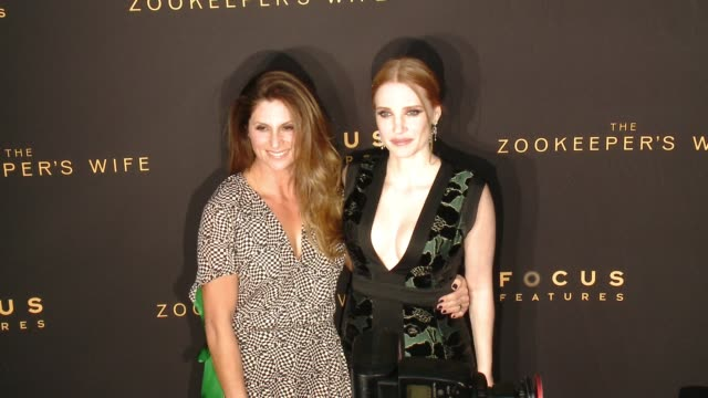 "Niki Caro Jessica Chastain at ""The Zookeeper's Wife"" Los Angeles Premiere Presented by Focus Features in Los Angeles CA"
