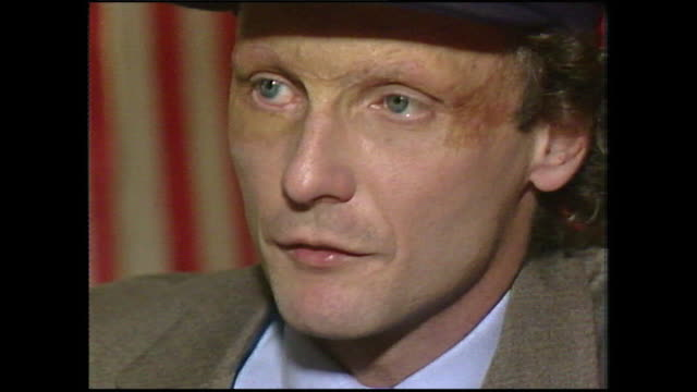 niki lauda dismisses the rumours of his 'physical difficulties' with the new cars and adapting to changes since returning to f1 racing i didn't have... - neckwear stock videos and b-roll footage