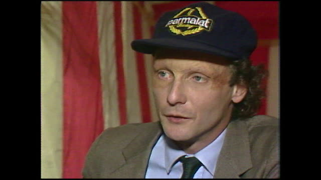 niki lauda explains his motivation for returning to f1 motor racing certainly not for the money no motivation in the world like money to go into a... - neckwear stock videos and b-roll footage