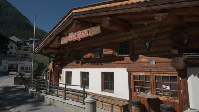 nikis stadl apresski bar and restaurant which is closed for the summer on september 09 2020 in ischgl austria ischgl became a superspreader locality... - ski holiday stock videos & royalty-free footage
