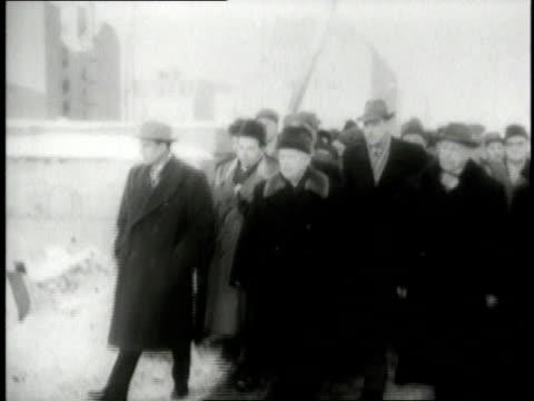 vídeos de stock, filmes e b-roll de nikita khrushchev visiting east berlin / berlin germany - east berlin