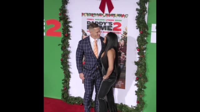 nikki bella john cena at the premiere of paramount pictures' 'daddy's home 2' - cena stock videos & royalty-free footage