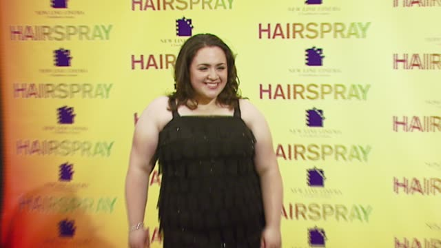 nikki blonsky at the 2007 showest at the paris hotel in las vegas, nevada on march 14, 2007. - paris las vegas stock videos & royalty-free footage