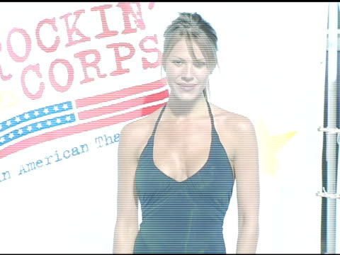 nikki cox at the rockin' the corp an american thank you celebration concert for us marines at camp pendelton marine base in oceanside california on... - oceanside stock videos and b-roll footage