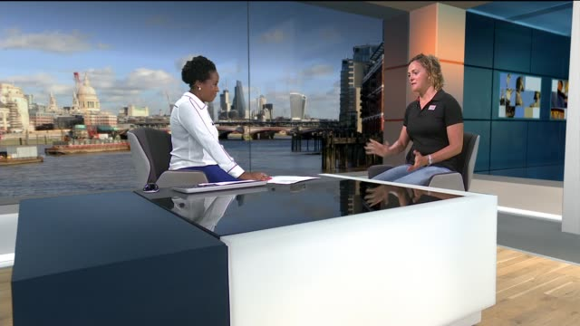 nikki henderson interview following clipper round the world yacht race; england: london: gir: int **note, restricted from sale as reporter mistakenly... - circumnavigation stock videos & royalty-free footage