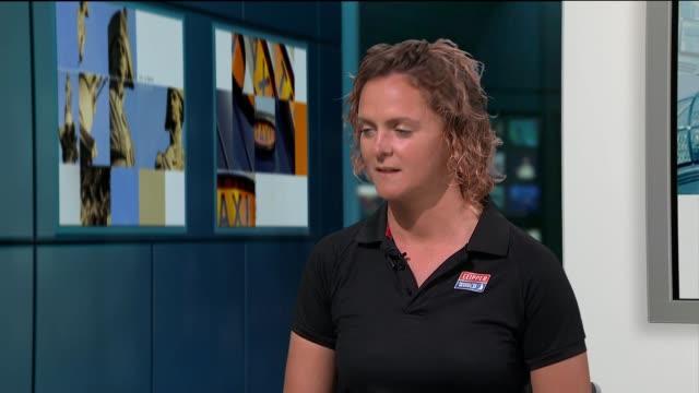 nikki henderson interview following clipper round the world yacht race; england: london: gir: int nikki henderson live studio interview sot - circumnavigation stock videos & royalty-free footage