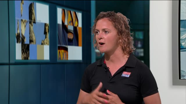 nikki henderson interview following clipper round the world yacht race; england: london: gir: int nikki henderson live studio interview sot - circumnavigation stock videos & royalty-free footage