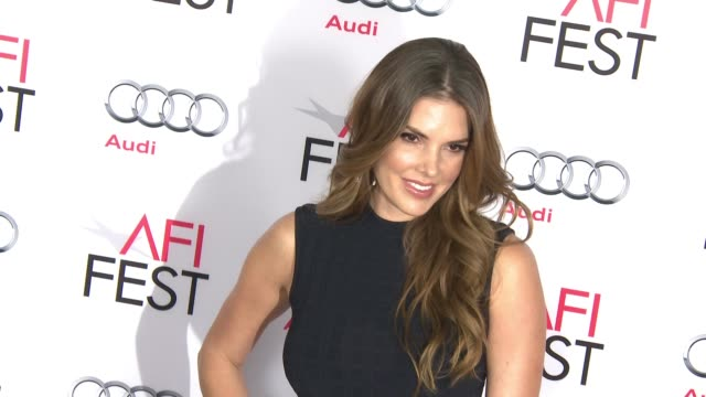 """stockvideo's en b-roll-footage met nikki moore at """"by the sea"""" world premiere gala screening - afi fest 2015 at tcl chinese theatre on november 05, 2015 in hollywood, california. - filmscreening"""