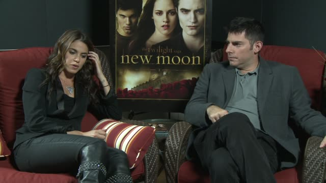 nikki reed and chris weitz on what fans can expect from the new moon dvd on having wonderful fans on what excited them about working on new moon on... - nikki reed stock videos and b-roll footage