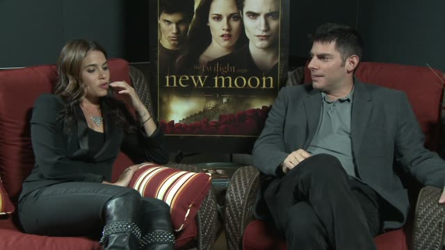 nikki reed and chris weitz on what fans can expect from the new moon dvd, on having wonderful fans, on what excited them about working on new moon,... - nikki reed stock videos & royalty-free footage