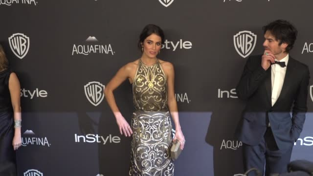 Nikki Reed and Ian Somerhalder at 17th Annual InStyle And Warner Bros Pictures Golden Globe AfterParty at The Beverly Hilton Hotel on January 10 2016...