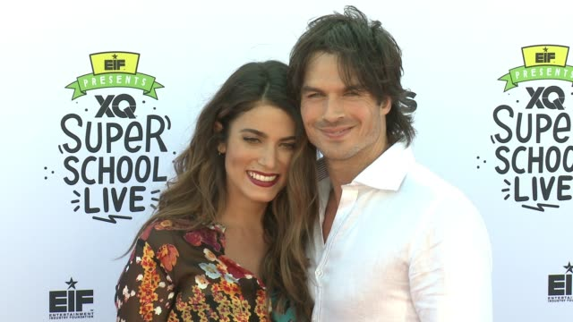 Nikki Reed and Ian Somerhalder at EIF Presents XQ Super School Live at Barker Hangar on September 08 2017 in Santa Monica California