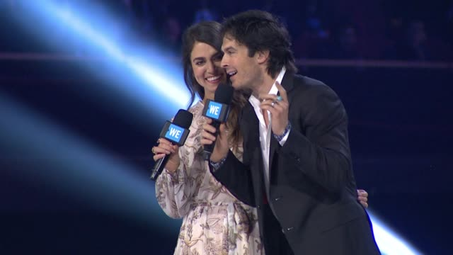 SPEECH Nikki Reed and Ian Somerhalder at WE Day California at The Forum on April 07 2016 in Inglewood California