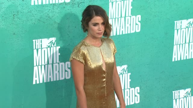 nikki reed at 2012 mtv movie awards arrivals at gibson amphitheatre on june 03 2012 in universal city california - nikki reed stock videos and b-roll footage
