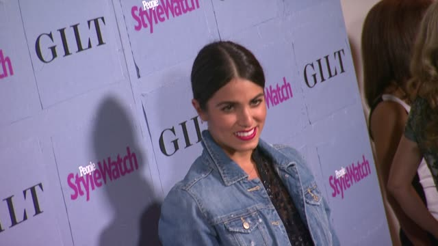 nikki reed at people stylewatch hosts hollywood denim party in honor of the magazine's 3rd annual denim issue on 9/19/13 in los angeles ca - nikki reed stock videos and b-roll footage