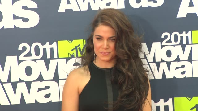 nikki reed at the 2011 mtv movie awards at los angeles ca - nikki reed stock videos and b-roll footage