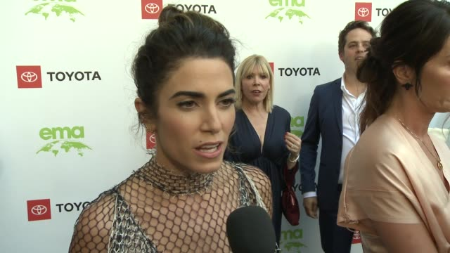 interview nikki reed at the 29th annual environmental media awards at montage beverly hills on may 30 2019 in beverly hills california - environmental media awards stock videos & royalty-free footage