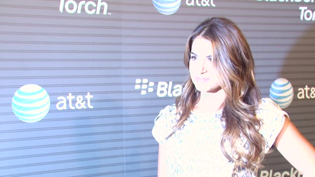 nikki reed at the blackberry torch from att usa launch party at los angeles ca - nikki reed stock videos and b-roll footage