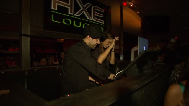 nikki reed at the celebrities celebrate 4th of july at axe lounge in southampton at southampton ny - nikki reed stock videos and b-roll footage