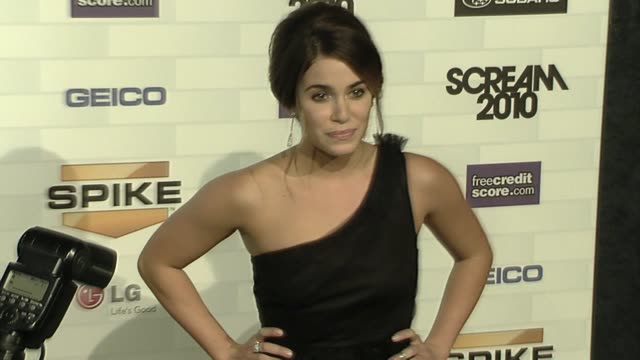 nikki reed at the spike tv's 'scream 2010' at los angeles ca. - nikki reed stock videos & royalty-free footage